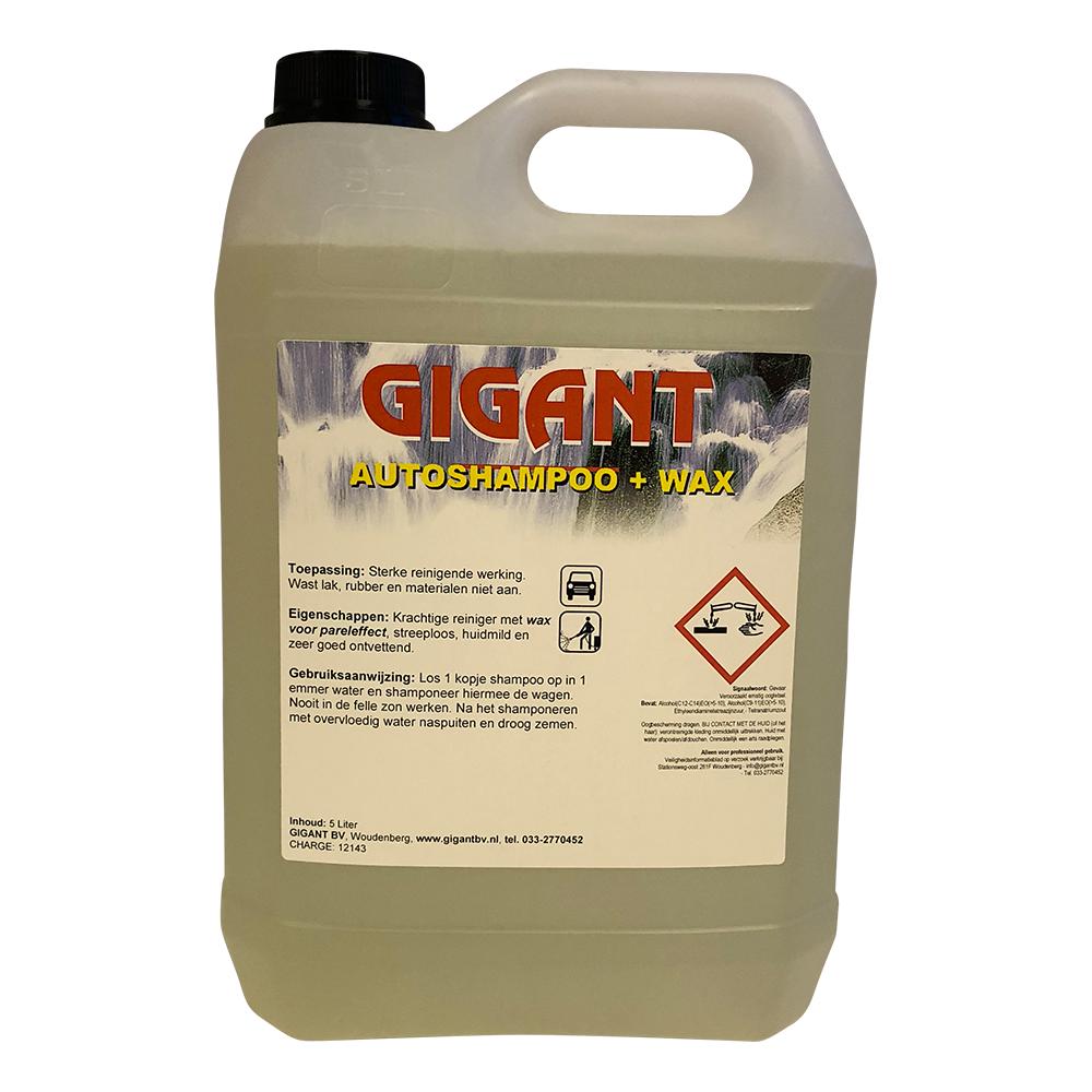 Gigant Autoshampoo+wax 5 Ltr