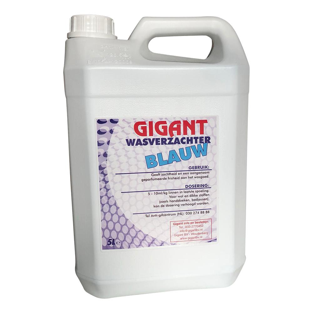 Gigant Wasverzachter BLAUW 5 Ltr
